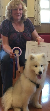 A beautiful graduate from the puppy school.