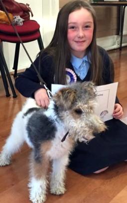 A happy graduate from Durham Puppy School